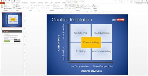 conflict resolution powerpoint template free conflict