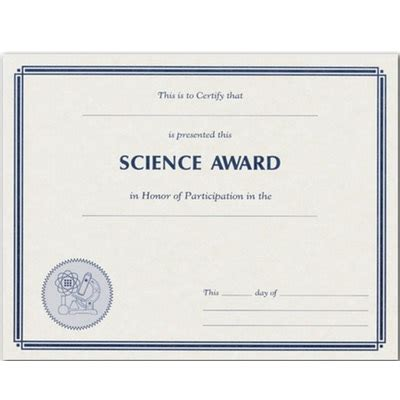science fair award certificates printables templates