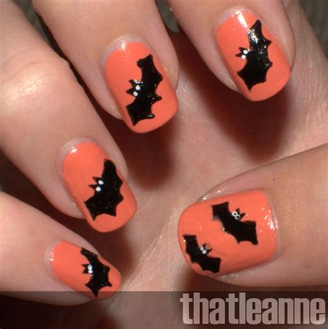easy nail art halloween thatleanne simple halloween nail art ideas