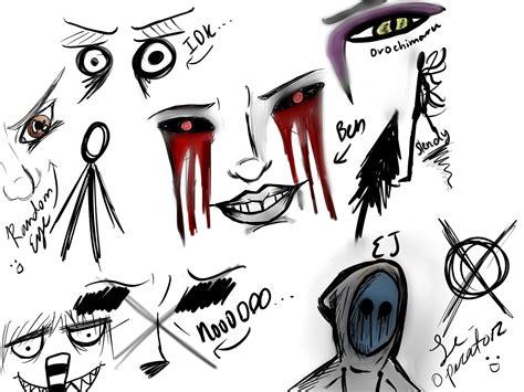 logo anim doodle random anime and creepypasta doodles by iamtheproxy on