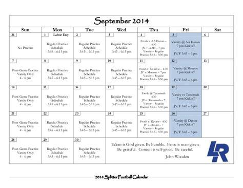 Calendar When Is Labor Day 2014 Calendar Labor Day 2014 Splitter Football Calendar