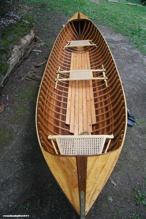 Handmade Wooden Canoes - adirondack guide boat handmade from wooden boat plans