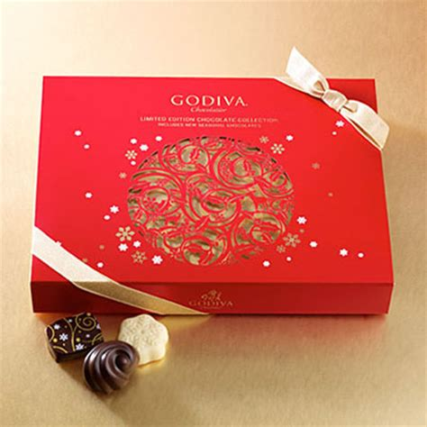 godiva 18 pc holiday chocolate gift box