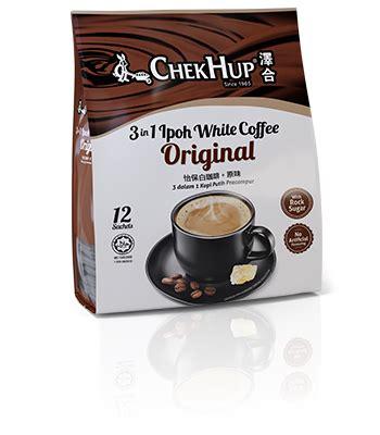 Murah Chekhup White Coffee 3in1 Original chek hup 3 in 1 ipoh white coffee original 600g 15 bags