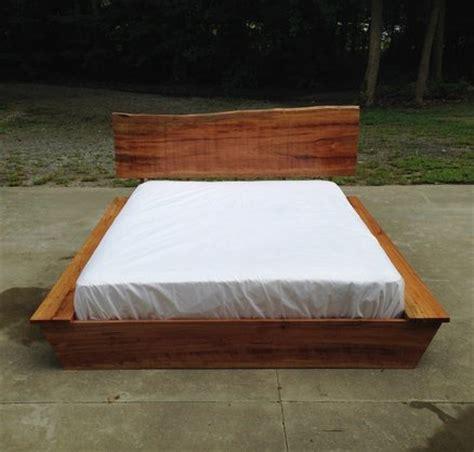 slab wood headboard spalted beech platform bed with live edge slab headboard