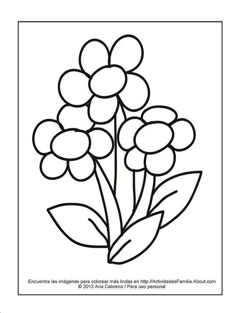 imagenes para colorear flor dibujos de flores para colorear