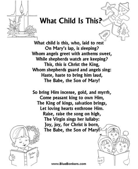 printable christmas carol song lyrics bluebonkers what child is this free printable carol lyrics sheets favorite