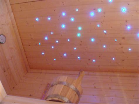 sternenhimmel beleuchtung decke sauna sternenhimmel licht farbwechsler glasfaser