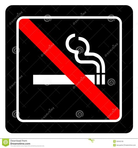 no smoking sign black background no smoking sign vector on black background stock vector