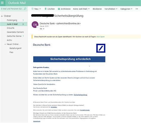 Deutsche Bank Phishing Sicherheits 252 Berpr 252 Fung