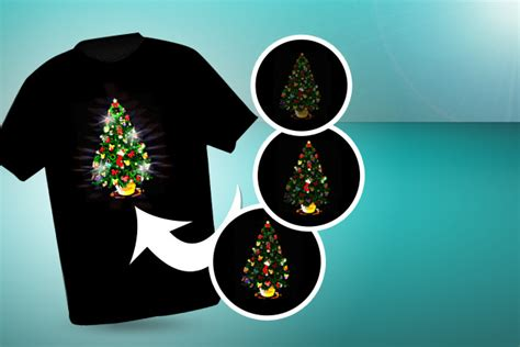 led christmas t shirts