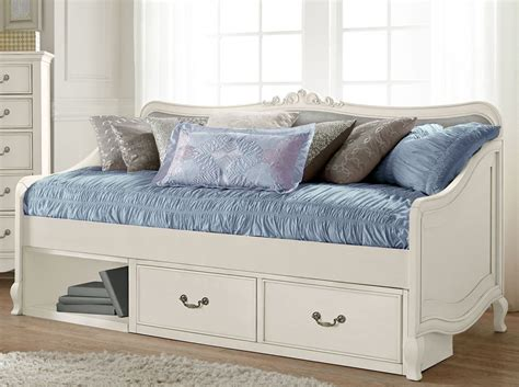 White Daybed With Storage Kensington Antique White Elizabeth Daybed With Storage 20040ns Ne