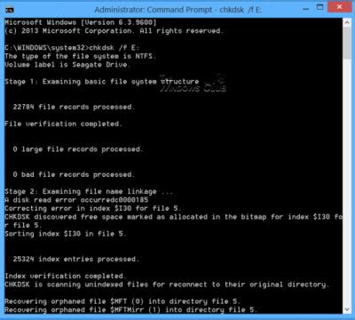 format fat32 parted format drive or run check disk using cmd or command prompt