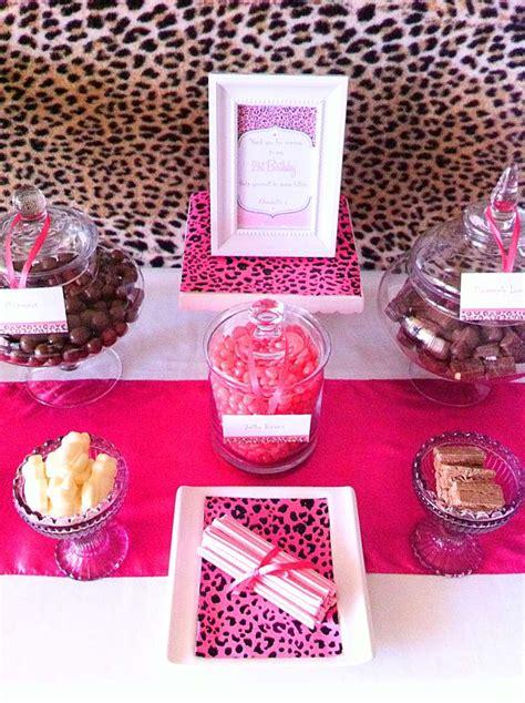 Cheetah Birthday Decorations by Brown Amp Pink Cheetah Print Birthday Party Ideas Photo 1