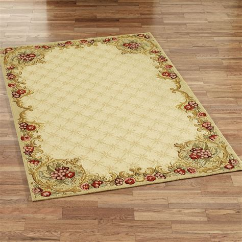 Wine And Roses Hooked Area Rugs Area Rug