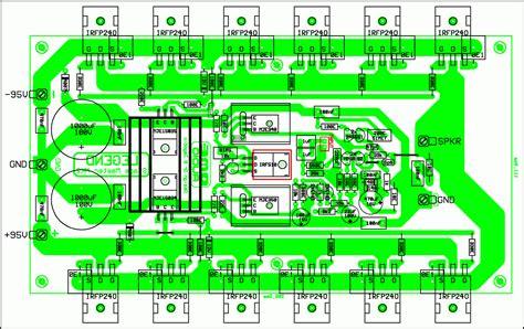 layout pcb power lifier 800 watt power lifier 1000 500 250 and 125 wat transistors