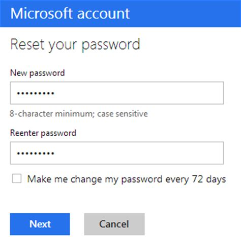 windows live reset password not working login live account london time sydney time