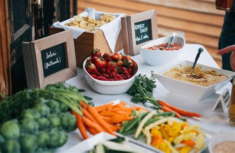 Team Wedding Blog 5 Delicious Artistic Foodie Themes For Vegan Buffet Los Angeles