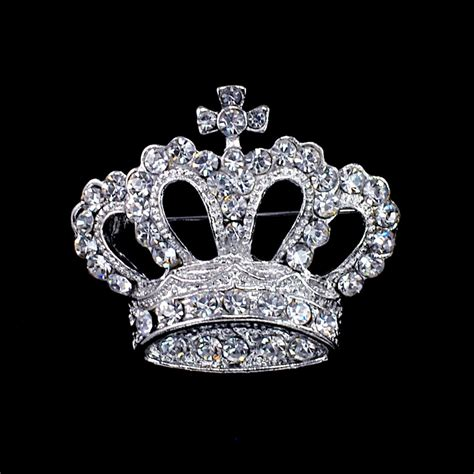 silver crown brooch