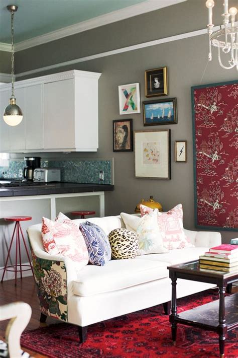 gray and burgundy living room gray living room with light teal ceiling burgundy art
