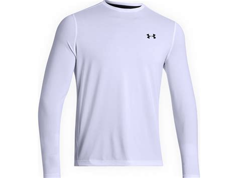 Armour Mens Tech Sleeve Shirt White Size S armour s tech t shirt 2 0 sleeve polyester