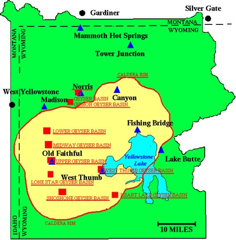 yellowstone geysers map wyojones yellowstone geyser pages
