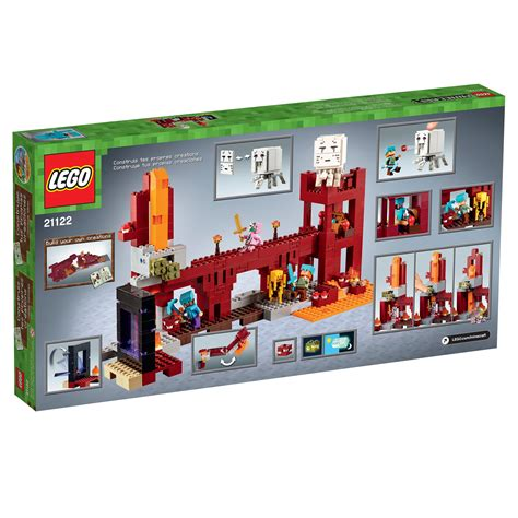 Amazon.com: LEGO Minecraft The Nether Fortress 21122: Toys