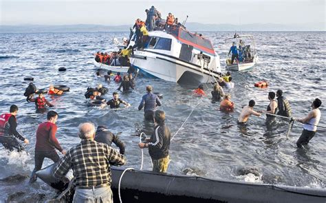 refugee migrant rescue boat six infants drown as migrant boat capsizes off samos