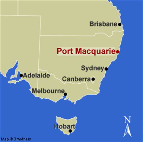 How Far Is Port Macquarie From Sydney By Car by Port Macquarie Map And Port Macquarie Satellite Image