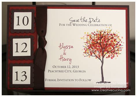 fall wedding invitations and save the dates fall autumn wedding save the date card or invitation