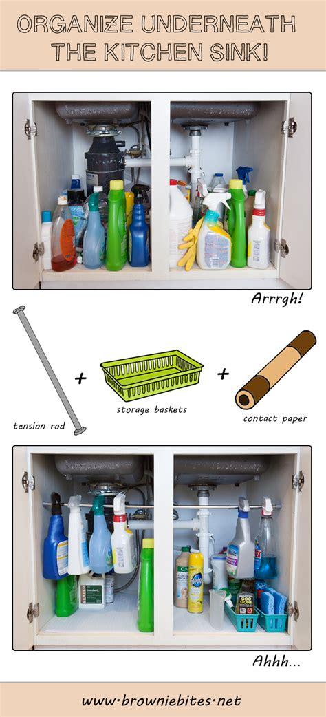 organize kitchen sink simple tip for organizing the sink brownie bites