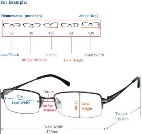 eyeglasses frame sizes glass eye