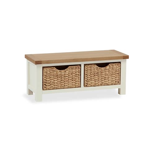 small storage bench with baskets suffolk small bench with baskets desire furnishings