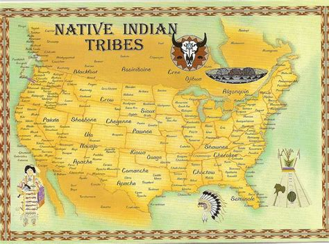 america map indian tribes indian tribes map map depicting the various