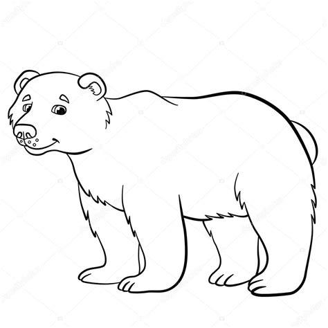 imagenes de animales salvajes para dibujar dibujos para colorear animales salvajes lindo oso de