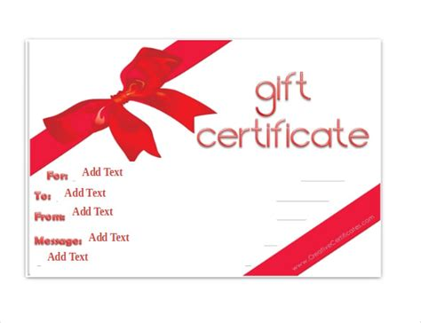 Blank Gift Card Templates Free by Gift Certificate Template 34 Free Word Outlook Pdf