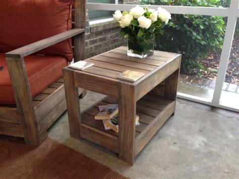 belvedere outdoor end table plans restoration hardware knock off