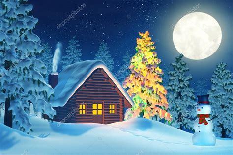 imagenes hermosas de navidad con nieve cabina 225 rbol de navidad y mu 241 eco de nieve en paisaje de