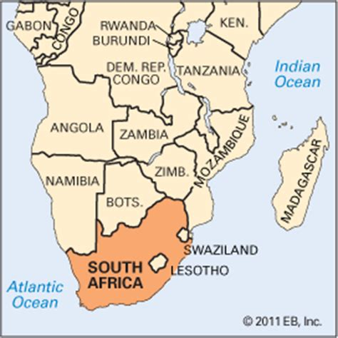 africa map location south africa location encyclopedia children s