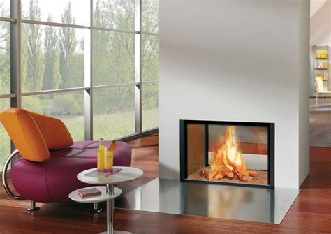 sided wood burning fireplace insert home design