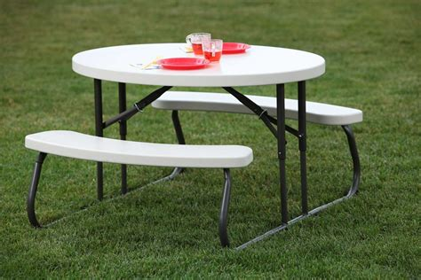 round picnic bench lifetime round picnic table let s get round picnic table