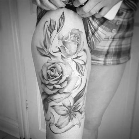 mia rose tattoo 25 best ideas about thigh on