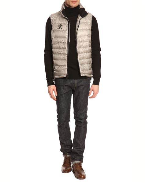 Jaket Silver Adventure Polos polo ralph sleeveless puffer jacket light rlx silver in silver for lyst