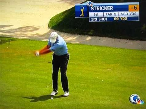 steve stricker wedge swing steve stricker the dreaded 69 yard wedge shot golf