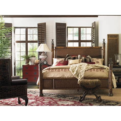 lexington wicker bedroom furniture lexington henry link trading co california king size