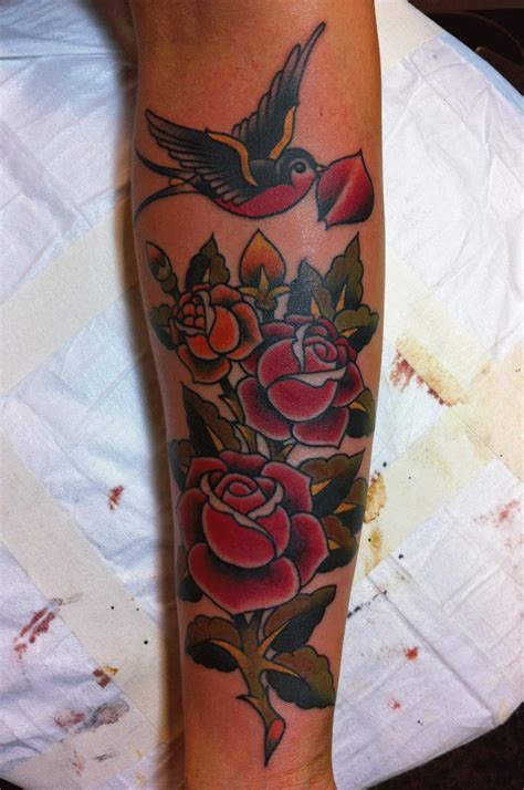 rose and swallow tattoo lonsdale