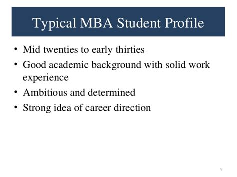 Mid Career Mba why mba presentation