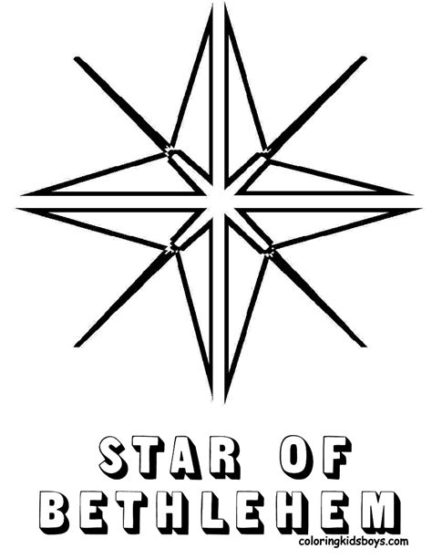 coloring page star of bethlehem jolly christmas coloring pages christmas day free