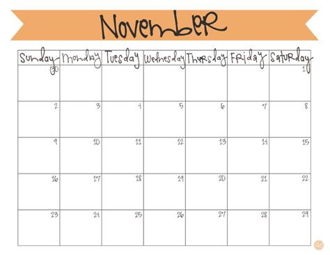 printable month calendar november 2014 november 2014 calendar free printable live craft eat
