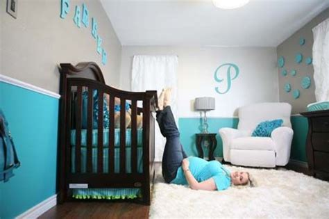 Blue And Brown Nursery Decorating Ideas Grey And Turquoise Nursery Pinterest Turquoise To Miss And Grey